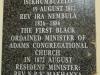 Adams College - Congregational Church - Rev Nembula plaque