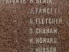 Vaalkrans - Monument - Pvts - J Fawcett, H Fletcher, D Graham, W Howard, J Hudson