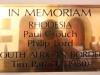 Michaelhouse -  Chapel - Plaques - Paul Crouch - Philip Lord - Tim Patrick