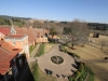 Michaelhouse - view from chapel tower  over buildings & main entrance (2)