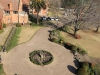 Michaelhouse - view from chapel tower  over buildings & main entrance (3)