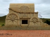 Blood River - The Jaw Bone Wagon Monument -  (1)