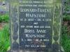 Baynesfield St Johns Church grave Leonard & Beryl Mapstone