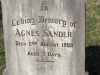 Boston St Michaels United Church - grave Agnes Saunder 1908