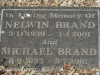 Boston St Michaels United Church - grave Nelwin and Michael Brand