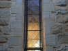 Clairvaux west facade stain glass windows in morning light (10)
