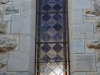 Clairvaux west facade stain glass windows in morning light (11)
