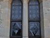 Clairvaux west facade stain glass windows in morning light (4)