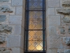 Clairvaux west facade stain glass windows in morning light (6)