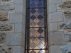 Clairvaux west facade stain glass windows in morning light (7)