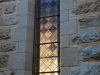 Clairvaux west facade stain glass windows in morning light (8)