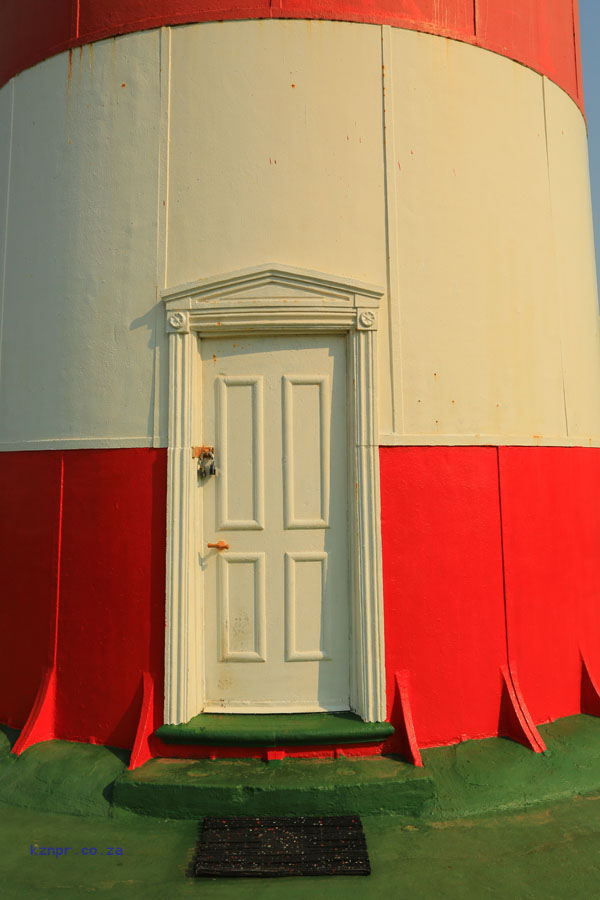 Greenpoint Lighthouse 1905 - Clansthal - Lighthouse door & South Coast | KZN: A Photographic and Historical Record