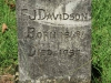 Curry's Post - St Paul's Church -  grave -  FJ Davidson - 1937