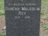 Dargle - St Andrews Church - Grave -  Duncal Malcolm Roy (McKenzie)