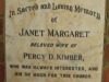 Dargle - St Andrews Church - Grave - Janet Margaret Kimber