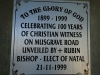 DURBAN St Thomas Musgrave  Centenary plaque 1899