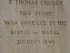 DURBAN St Thomas Musgrave   Foundation Stone 1899