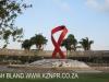 Durban - Gugu Dhlamini Park Aids Ribbon (2)