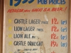 PYC - Pub prices 1953