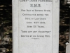 Durban - West Street Cemetery - Grave - corporal John Parkhill - NMR - 1900 of Enteric in Ladysmith -   (242)