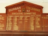 DURBAN - Collegeans & Crusaders Canoe Club - Honours Boards - Bowls - Executive Committee & Honours