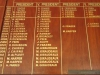 DURBAN - Collegeans & Crusaders Canoe Club - Honours Boards - Bowls - Executive Committee