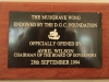 Durban Girls College -  Centenary Hall - Memorabilia - opening Plaque - Avril Wilson 1994