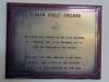 Durban Girls College -  Centenary Plaque 1977 - State President Dr N Diedrichs
