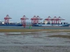 Durban Harbour - Container Terminal - low tide from Embankment (12)