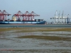 Durban Harbour - Container Terminal - low tide from Embankment (13)