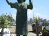 Durban Harbour - Lady in White - Perla Siedle Gibson - Monument at Passenger terminal -  (2)