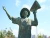 Durban Harbour - Lady in White - Perla Siedle Gibson - Monument at Passenger terminal -  (3)