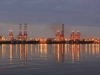 Durban - Harbour at Dawn - Container terminal (2)
