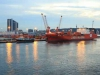 Durban Harbour at dawn -     (21)
