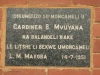 Inanda - Africa Church - Afrika Congregational Church -  Plaques 1951 - LM Makoba