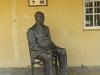 Inanda - Ohlanga Institute - Dr J Dube statue outside his original home (1)