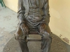 Inanda - Ohlanga Institute - Dr J Dube statue outside his original home (2)