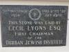 DURBAN - Jewish Club foundation stone Cecil Lyons 1930