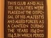 DURBAN - Jewish Club plaque WWII use of premises