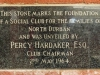 Crusaders Club - Plaques - Percy Hardaker - May 1964