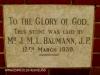 Durban Addington Methodist Church  Baumann Plaque 1939