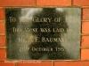 Durban Addington Methodist Church  Plaque AF Baumann 1959