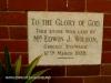 Durban Addington Methodist Church Plaque Edward Wilson 1939)