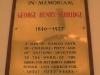 Durban Addington Methodist Church  Plaque George Henry Serridge 1927