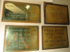Royal Natal Yacht Club - Plaques - opening and directional