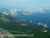 Durban Harbour coal terminal and Salisbury Island