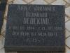 Elandheim Cemetery grave of  Adolf Dedekind