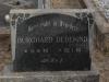 Elandheim Cemetery grave of  Burchard Dedekind