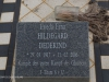 Elandheim Cemetery grave of  Hildegard Dedekind