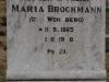 Elandheim Cemetery grave of  Maria Brockmann